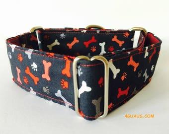 Martingale Dog Collar or Buckle Dog Collar, Collar martingale, Greyhound Collar, dog leash, colors - 4GUAUS.COM