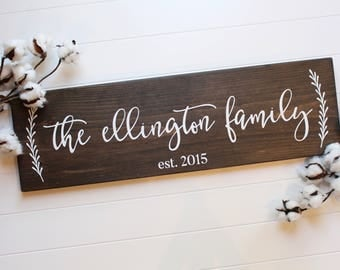 """wood family established sign 