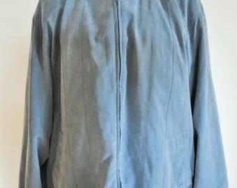 Vintage Bomber Jacket / Mens / Large / L / 54 /  Sports Jacket / Sporty / Blue / Light / Outwear