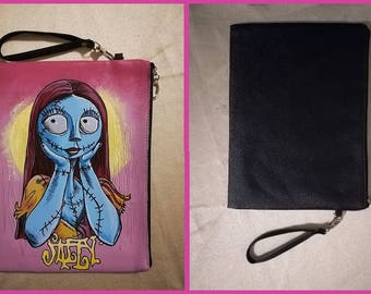 """Bag or wrist bag in black faux leather """"Sally"""" from Nightmare before Christmas"""