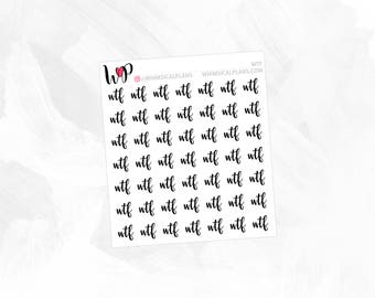 WTF | Clear Matte Glossy Planner Stickers