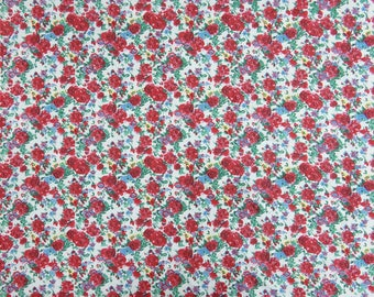 "Dressmaking Fabric, Sewing Decor, White Printed Fabric, Dress Material, Cotton Fabric, 44"" Inch Quilting Fabric By The Yard ZBC8935A"