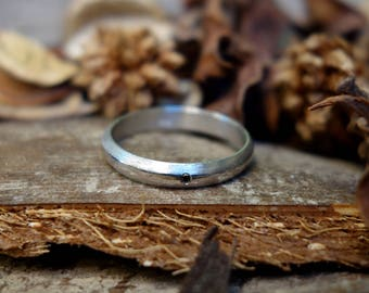 Men's Wedding Ring Unique Black Diamond Wedding Ring Sterling Silver Ring Unique Engagement Ring Customize Promise ring Jewelry Promise ring