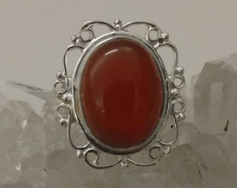CLEARANCE *Carnelian Ring Size 7 1/2