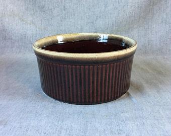 Vintage Pfaltzgraff Gourmet Brown Souffle Pan #408