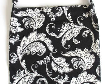 Catheter Bag Cover | Catheter Tubing Cover | Urine Bag Cover | Wheelchair Accessories | Drainage Bag Cover | BLACK & WHITE FLORAL