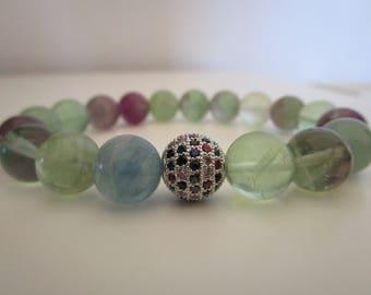 Fluorite bracelet, bracelet natural stones, bracelets, bracelet for women, gift for woman, fluorite, jewelry, beaded bracelet