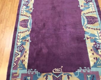 5' x 8' Persian Kerman Oriental Rug - Hand Made - 100% Wool - Modern