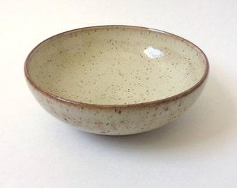 light shino speckled bowl
