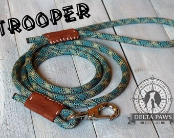 CUSTOM Trooper Leash || Rock Climbing Rope Dog Leash || Handmade in the USA