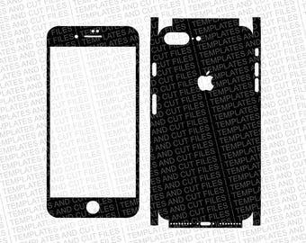Iphone 8 Plus Skin template for cutting or machining - Digital Download - For plotters, CNCs, Laser cutters, Silhouette Cameo, Cricut, etc