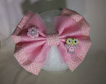 Owl hair bow