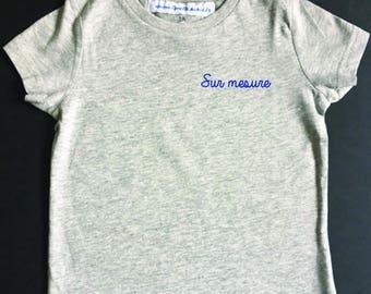 Tee-shirt enfant GRIS à personnaliser