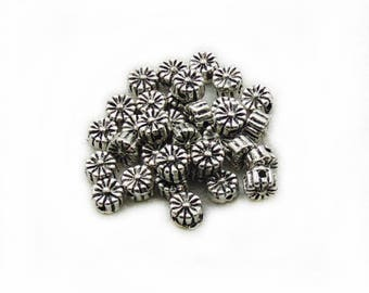 7mm Flower Beads, Tiny Beads, Metal Beads, 10pcs  Beads, Spacer Beads, Jewelry Making, DIY Spacer Beads