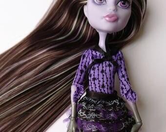 OOAK Monster High Doll- Twyla, rerooted.