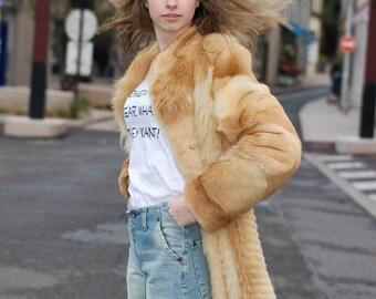 Coat in vintage fur very chic