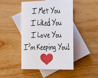 I love you card etsy i love you card boyfriend gift card for him valentine card romantic negle Gallery