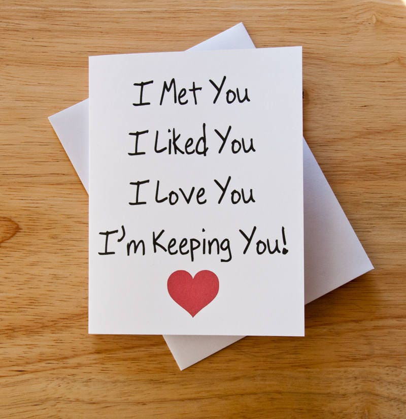 I Love You Card Boyfriend Gift Card For Him Husband Gift
