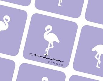 Flamingo Nail Vinyl - Nail Stencil for Nail Art
