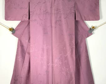 KM359 Vintage Japanese Kimono Womens Silk Pink