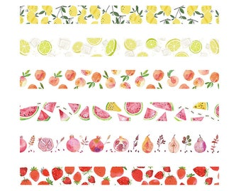 Fruits Washi Tapes, 15mm