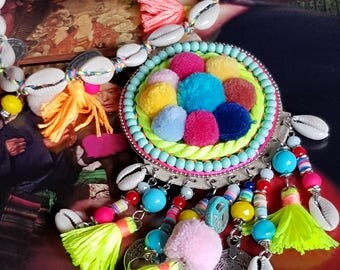 Ethnic necklace tassels