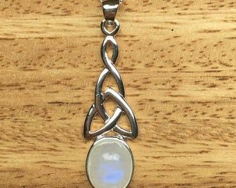 Sterling Silver Moonstone Pendant Moonstone Necklace Moonstone Jewellery 925 Silver Womens Pendant Womens Jewellery Wedding Gift For Her