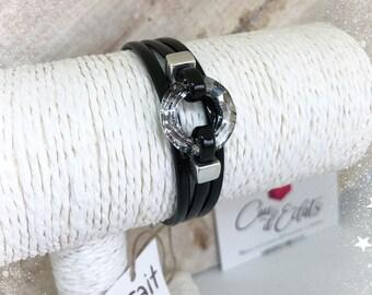 Bracelet Rondelle Swarovski® Cristal