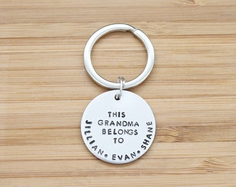 hand stamped keychain | this grandma belongs to
