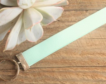 Light Blue Lanyard // Cute Lanyard // The Earthy Soul // ID Badge Holder // Solid Color Lanyard // Wrist Lanyard // Party Favor // Gift