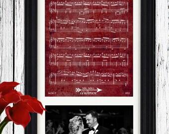 40th Anniversary Gift Wedding Sheet Music Art 40th Anniversary Gift for Parents 40th Ruby Anniversary Birthday Gift for Parents Wedding Song