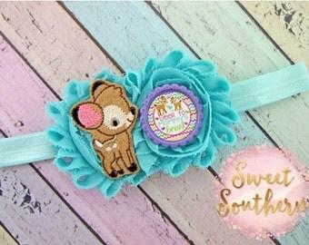Deer To Mommy Headband, Baby headband, Kids Headband, Childrens Headband, Headbands, Girls Headbands, Elastic Headbands
