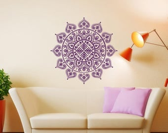 Mandala Wall Decal Mandala Decal Yoga Studio Decor Bohemian - Yoga studio wall decals