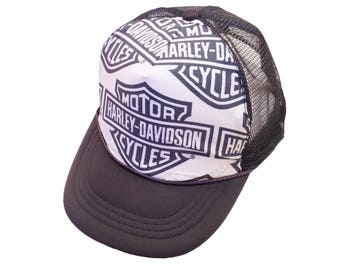 Harley Gray Trucker Hat-Youth Size