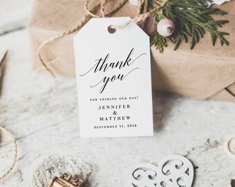 Wedding favor gift tag