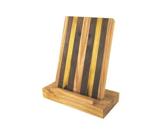 Cellphone Stand \ Smartphone Stand \ Tablet Stand \ Docking Station Ash, Mulberry, and Black Walnut