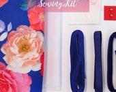 Bra & Pantie Kit - Scuba - Bright Blue Floral