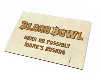 Blood Bowl Lasercut Wood Travel Tray Custom Etch Addon