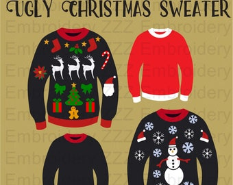 Ugly Christmas Sweater SVG cut print file/cuttable files