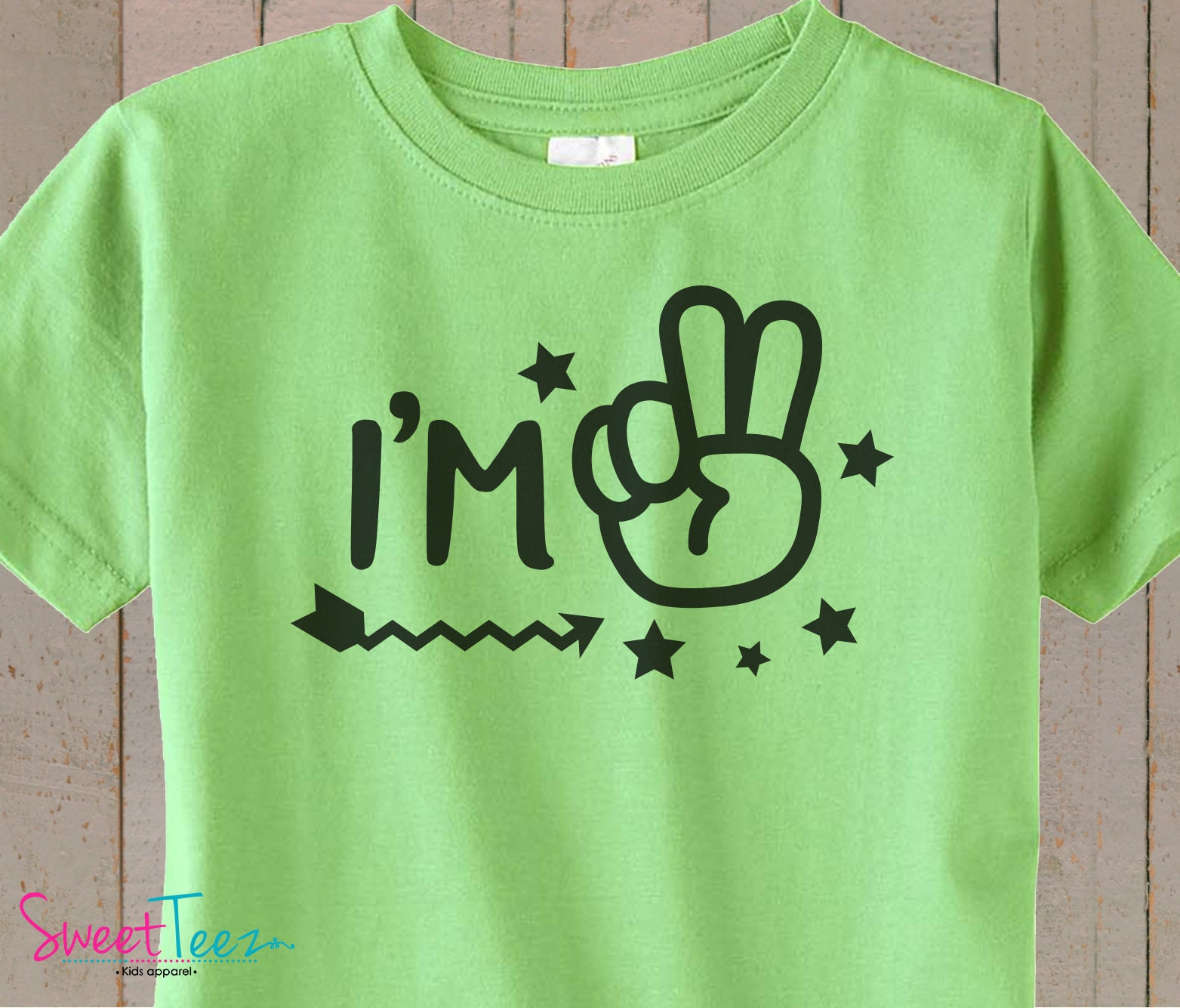 2nd Birthday Shirt Im 2 Second Boy Girl Green Blue Tshirt