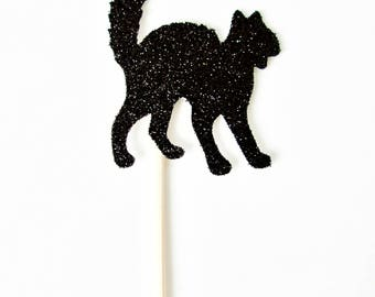 Black Cat Cupcake Toppers - Set of 12