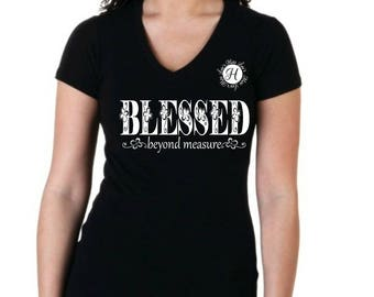 Blessed beyond measure  SVG Cut file  Cricut, Christian svg, Jesus svg Commercial license, Scripture svg, woman's Christian t shirt