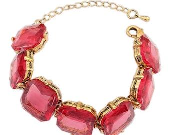 Antique Red Crystal Bracelet