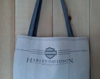 Vintage Harley Davidson T-shirt tote bag