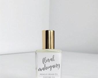 Floral Mahogany - Vegan Perfume Oil - Perfume Oil- Roll on Perfume - Roller Ball Perfume - Jojoba Oil