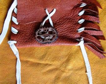 leather bag, leather pouches, elk leather bag, tribal bag, possibles bag, leather amulet bag, medicine bag, pendant leather bag, elk