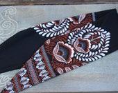 Women's head wrap, stretchy tie headband for women, tie knot headband, top knot headband, bow headband, black headband, floral headband