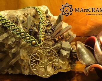 INGRID. Tree of life necklace, sacred geometry, sacred geometry necklace, sacred geometry macramé, tree of life macrame