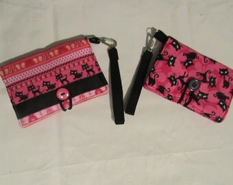 Small Pink Wallet/ Wristlet