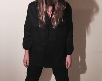 Button up linen coat